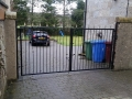 Mild steel box section driveway gate