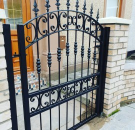 Bespoke single gate made for a client in coatbridge