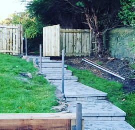Steel Posts set for metal handrail in shotts  are blacksmith