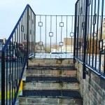 Modern metal stair railing custom made at ardblacksmith Coatbridge